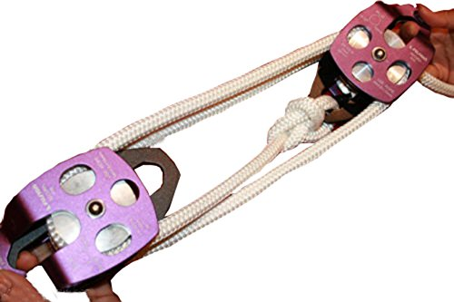 - Rising-Sun Twin Sheave Block and Tackle 7500Lb Pulley System 100 Feet 1/2 Double Braid Rope