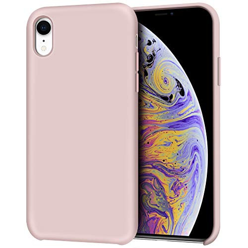 Anuck iPhone XR Case, Anti-Slip Liquid Silicone Gel Rubber Bumper Case with Soft Microfiber Lining Cushion Slim Hard Shell Shockproof Protective Case Cover for Apple iPhone XR 6.1