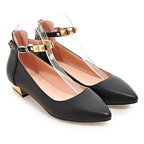 Les Femmes Melady Mode Chaussures Bas Cour Talon Noir