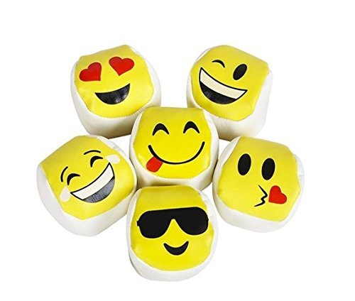 2'' Emoji Hackysack Kickball 12pc set