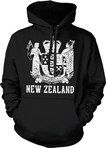 New Zealand, Coat of Arms, St. Edward's Crown, Onward Hooded Sweatshirt, NOFO Clothing Co. XL ()