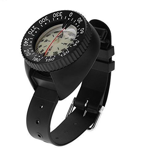 TOPINCN Waterproof Compass Diving Compass Wrist Outdoor Sports Survival Emergency Slighting Professional by TOPINCN