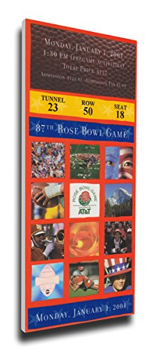 NCAA 2001 Rose Bowl Game Mega Ticket by That's My Ticket