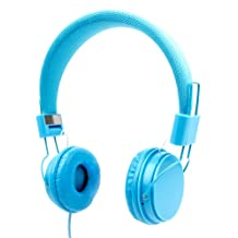 Blue Ultra-Stylish Kids Fashion Headphones Compatible with the MSI GE72 - by DURAGADGET