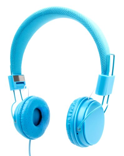 Price comparison product image Blue Ultra-Stylish Kids Fashion Headphones Compatible with the NVIDIA Shield K1 - by DURAGADGET