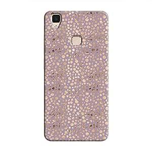 Cover It Up - Brown Violet Pebbles Mosaic V3 Hard Case