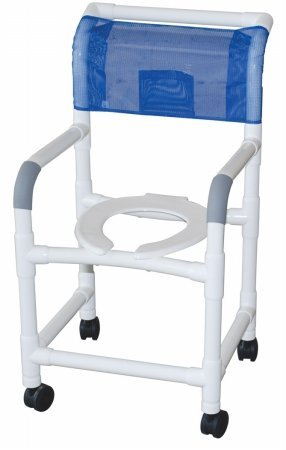 Amazon.com: Standard Deluxe PVC Shower Commode Chair: Beauty