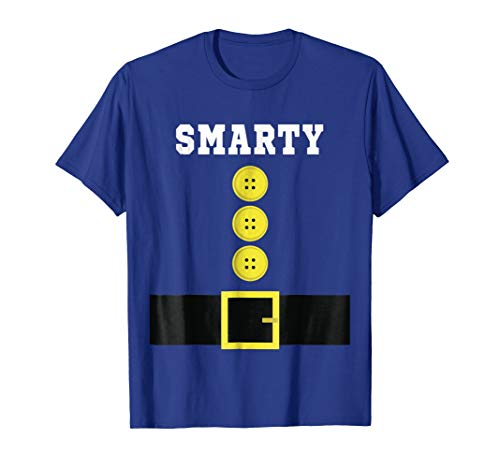 Funny SMARTY Dwarf Elf Halloween Costume T-Shirt
