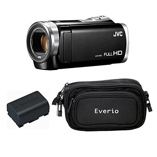 JVCケンウッド Everio HDビデオカメラ GZ-E880-B ブラック 内蔵メモリー8GB 3点セット ( 本体 + 予備バッテリー + カメラバッグ )の商品画像