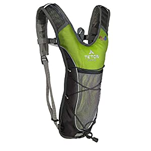 TETON Sports TrailRunner 2.0 Hydration Pack; Backpack for Hiking, Running and Cycling; Free 2-Liter Hydration Bladder; Bright Green