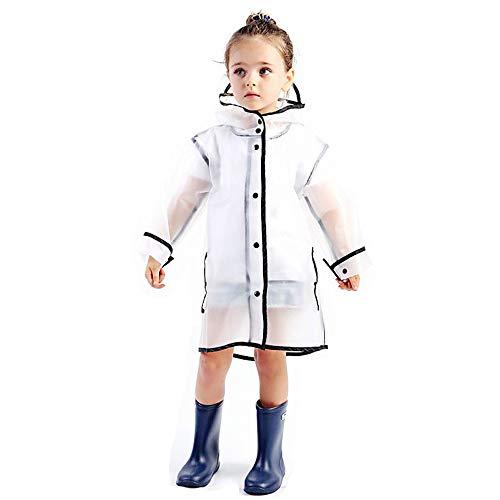 (Kids Transparent Rain Coat Lightweight Rain Jacket Raincoat For Kids Girls Boy Rainwear High Visibility Rain Jacket Children Rain Coats Girls Toddler Boy Rain Jacket Waterproof Kids Rain Cover S )