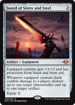 Magic: The Gathering - Sword of Sinew and Steel - Foil - Modern Horizons