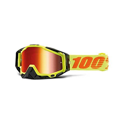 100% - Masque 100% Racecraft Attack Yellow Ecran Miroir Rouge 2017 Jaune