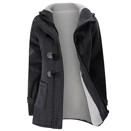 CLOTHSURE Big Girls Double Breasted Winter Coat Fur Collar Long Sleeve Warm Thick Jacket Outerwear