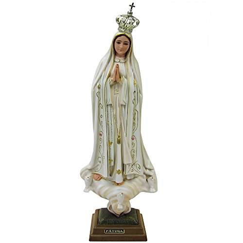 20 Inch 50 Cm Our Lady Of Fatima Statue Religious Figurine Virgin Mary Madonna Made In Portugal (Old Paint (1035V)) ()