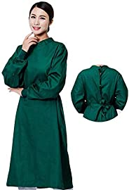 Washable Isolation Gown,Cotton Doctor Work Suit Surgical Gown Lab Coats with Long Sleeves for Hospital Nurse