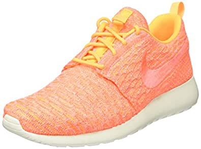 (6.5 B(M) US, Laser Orange/Bright Mango/Sail) - Nike Women's Roshe One Flyknit Running Shoe