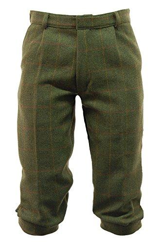 Tweed Lined Pants (Mens Dark Derby Tweed Plus Fours Breeches Breeks Waist 36