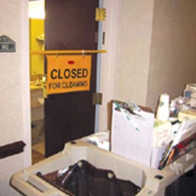 Hanging Safety Sign with ''Closed for Cleaning'' Logo [Set of 6] by Rubbermaid Commercial Products (Image #2)