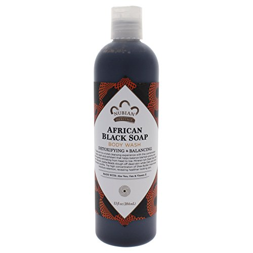 41QndUz-uhL Nubian Heritage Body Wash, African Black Soap, 13 Fluid Ounce