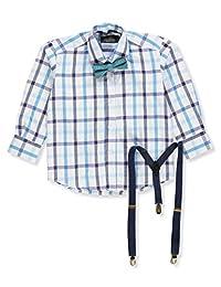 Kidz World Vittorino Boys' Dress Shirt with Accessories