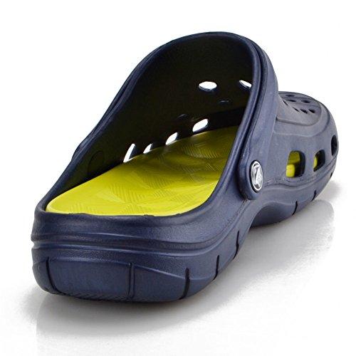 Zuecos De Ante Para Hombres Zapatos De Playa 2018 Nueva Colección Exclusiva Zuecos De Hombre Mulas Zuecos De Goma Zapatillas Los Zuecos Para Hombres Chicos Zapatos De Piscina De La Casa Clog Heavy Dut Darkblue