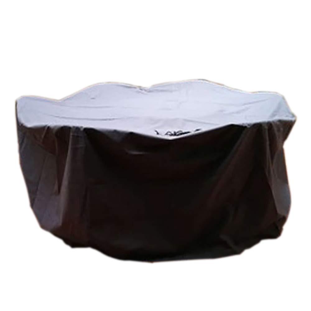Y-Y 屋外の家具カバー 屋外の雨カバー長方形の家具カバー、パティオのテーブルと椅子、複数のサイズが利用可能なため - 黒塗り (サイズ さいず : 130×130×High90cm) B07L23GBD2  130×130×High90cm