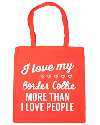 Coral than Bag border Tote Gym 10 love 42cm Shopping collie x38cm I people HippoWarehouse more Beach love my I litres HRYBHq