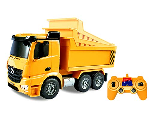 Bo-Toys Mercedes Benz Arocs Heavy Construction Dump Truck Remote Control 1:26 w/ Lights Sound