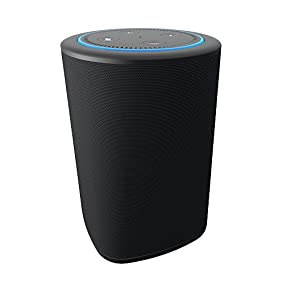 VAUX Cordless Home Speaker + Portable Battery for Amazon Echo Dot Gen 2 Black/Carbon