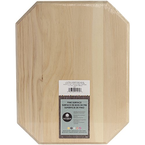 Walnut Hollow Clipped Corner Pine 11 x 14 Wood Plaque