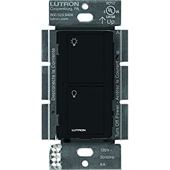 Lutron Pd 6ans Bl Switch 6 Amp Black Amazon Com