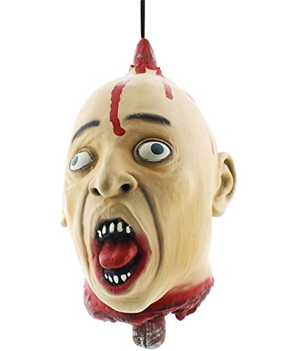 Latex Hanging Bloody Head Decors (Really Scary Halloween Props)