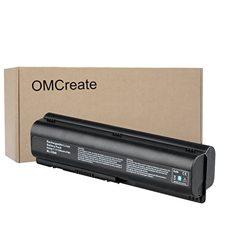 OMCreate 9-Cell Laptop Battery for HP Pavilion DV4-1000 DV4-2000 DV5-1000 DV6-1000 DV6-2000 CQ50 CQ60 CQ70 G50 G60 G60T G61 G70 G71 Series, Fits P/N 484170-001 EV06 KS524AA KS526AA HSTNN-IB72