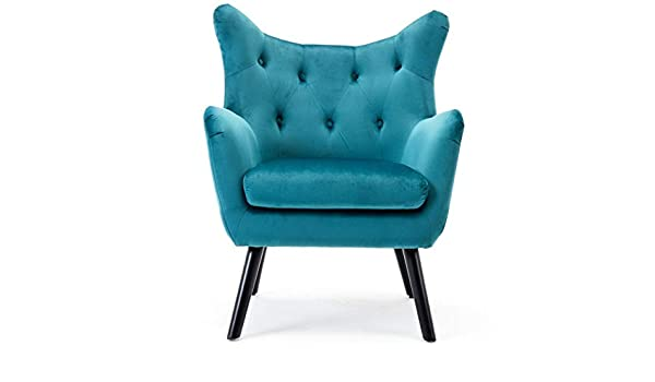 Amazon.com: Hebel Wingback Club Chair Elegant Armrest Fabric ...