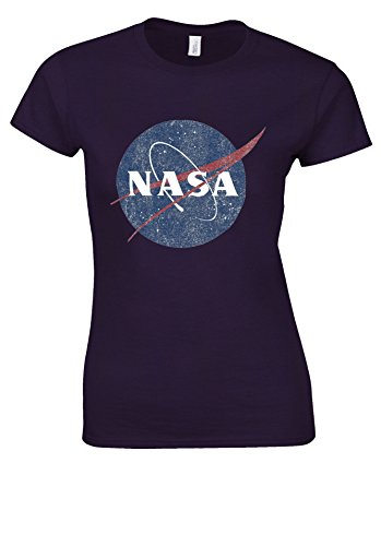 取り壊す降伏ベジタリアンNasa National Space Administration Logo Vintage White Women T Shirt Top