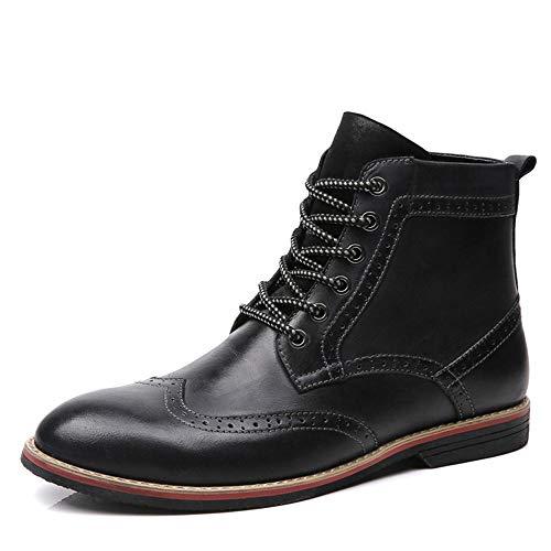 for Nero Ywqwdae 43 pelle da Dimensione Stivaletti invernali in Men Nero Colore lavoro Boots vera Balmoral EU p1ZnWA1aE