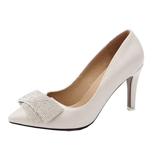 Large Size Onewus and Shoes Beige with Thin Available Pointed Heel Working Pumps Toe with BBpPFwvq
