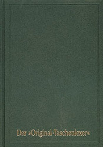 Mittelhochdeutsches Taschenwörterbuch in der Ausgabe letzter Hand Original Taschenlexer: Nachdruck der 3. Auflage von 1885