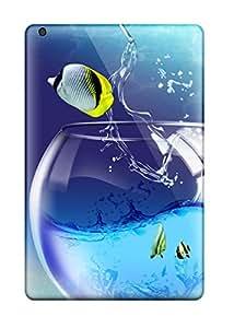 Ultra Slim Fit Hard Sandra D Kaplan Case Cover Specially Made For Ipad Mini/mini 2- Fish Animation