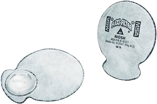 (MSA 818347 Flexi-Filter Pad for Advantage Respirators with Nuisance Level OV, Ozone Removal, N95 Filter Type (Pack of 2))