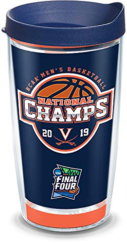 - Tervis 1328746 Virginia Cavaliers 2019 NCAA Basketball Champions Insulated Travel Tumbler with Wrap & Lid, 16 oz - Tritan, Clear