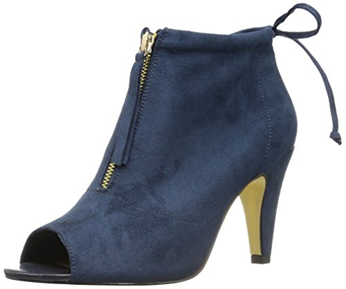 Bella Vita Womens Nicky II Ankle Bootie Navy Super Suede