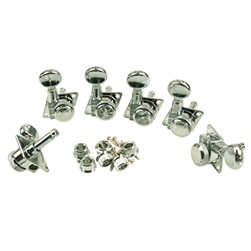 Kluson Revolution F-Mount 19:1 Ratio Locking Tuners for Fender 6 In-Line (Kluson Locking Tuners)