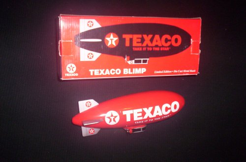 Texaco Blimp Limited Edition Die Cast Metal Bank 1 of 5000