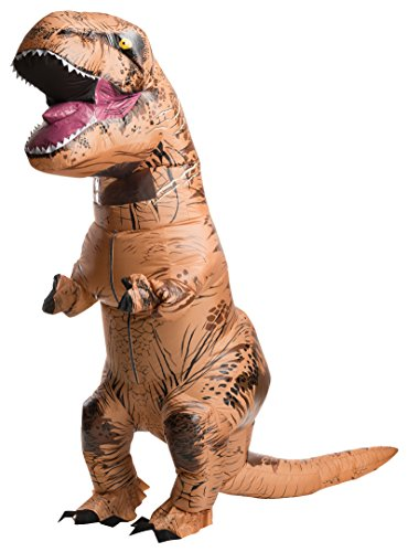 Rubie's Adult Official Jurassic World Inflatable Dinosaur Costume, T-rex, Standard for $<!--$41.28-->