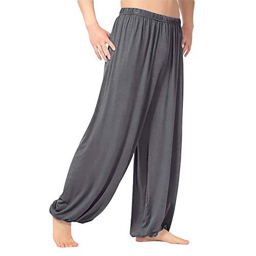 - Fashion Jogger Dancing yoga Pant Men's Casual Solid Loose Sweatpants
