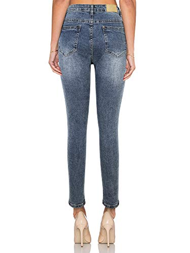 Taille Pantalon Dlav en Jegging SUPPLY Skinny KT Dlavage Moyen Haute Jean Elastique Femme Bleu Denim Super Stretch B0Z88nIA