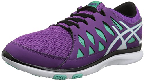 Asics Women's Gel Fit Tempo 2 Fitness Shoe Grape/White/Aqua Mint