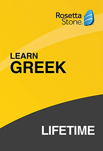 Software : Rosetta Stone: Learn Greek with Lifetime Access on iOS, Android, PC, and Mac [Activation Code by Mail]